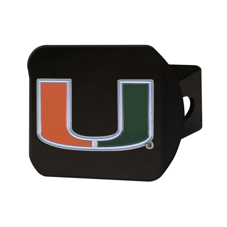 University of Miami Hitch Cover - Color on Black