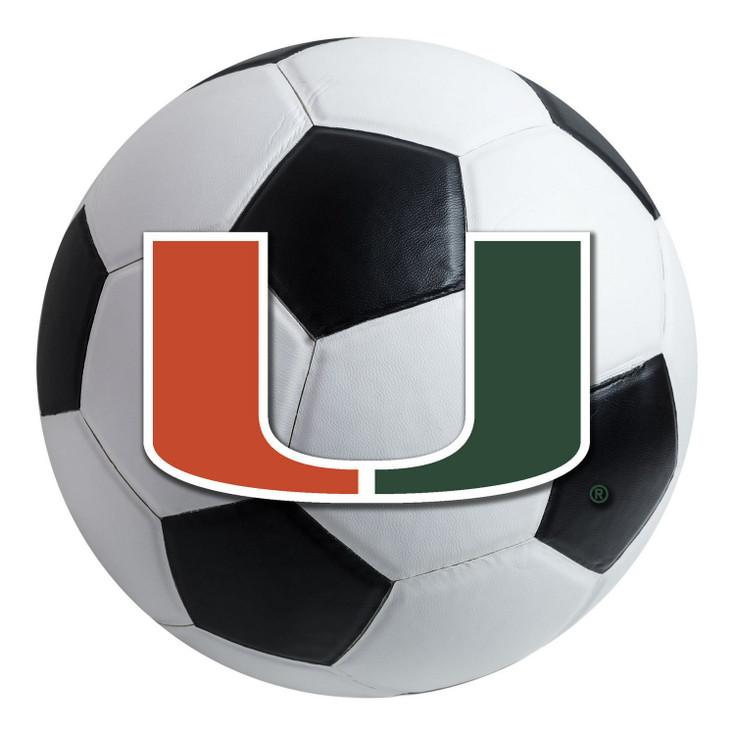 "27"" University of Miami Hurricanes Soccer Ball Round Mat"