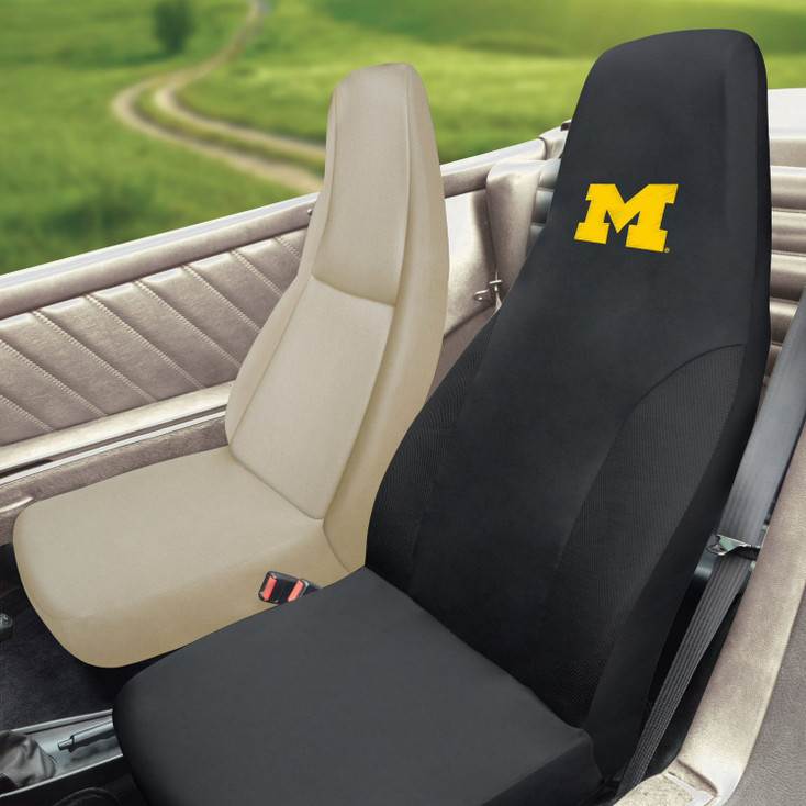"University of Michigan Car Seat Cover - ""Block M"" Logo"