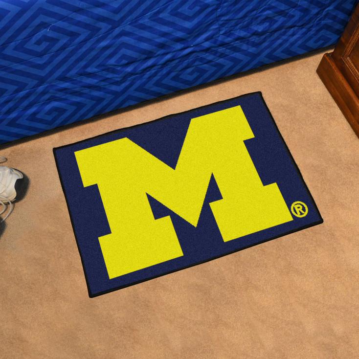 "19"" x 30"" University of Michigan Blue Rectangle Starter Mat"