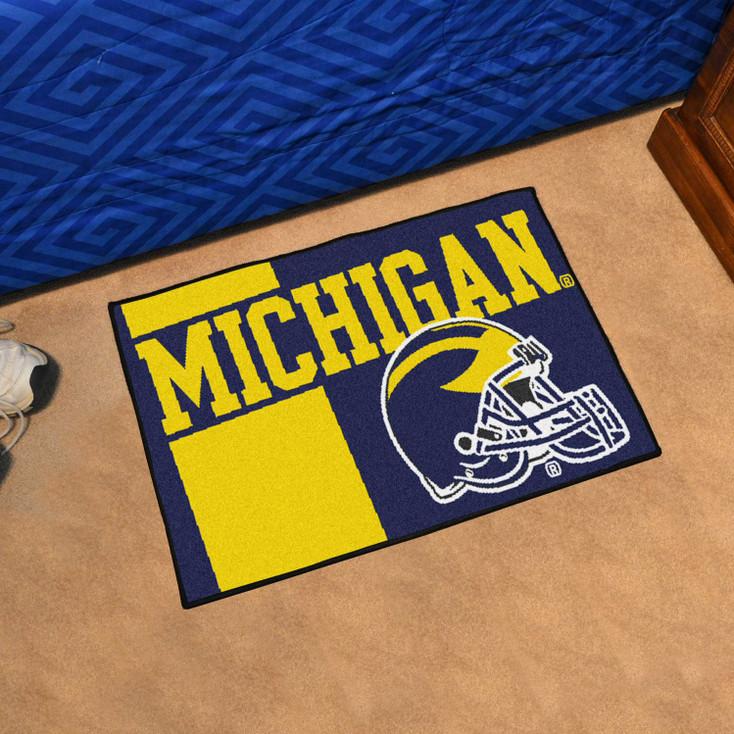 "19"" x 30"" University of Michigan Uniform Blue Rectangle Starter Mat"