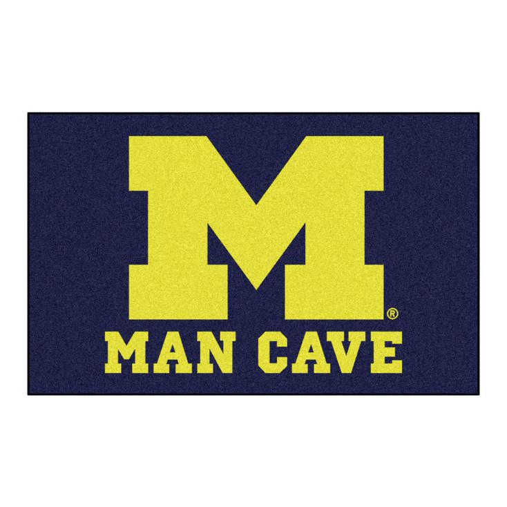 "59.5"" x 94.5"" University of Michigan Man Cave Blue Rectangle Ulti Mat"