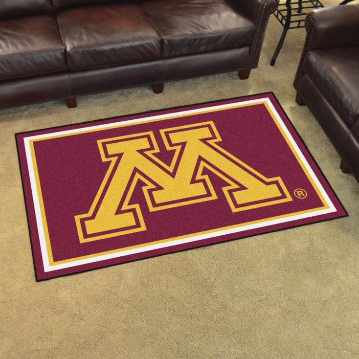 4' x 6' University of Minnesota Red Rectangle Rug