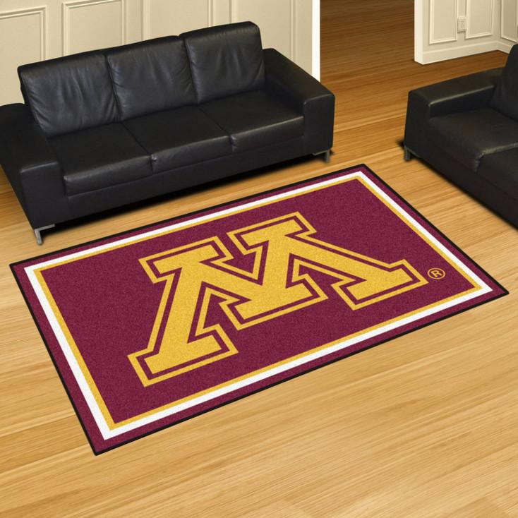 5' x 8' University of Minnesota Red Rectangle Rug