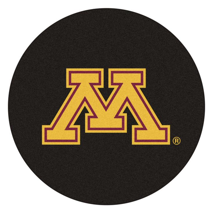 "27"" University of Minnesota Puck Round Mat - ""Block M"" Logo"