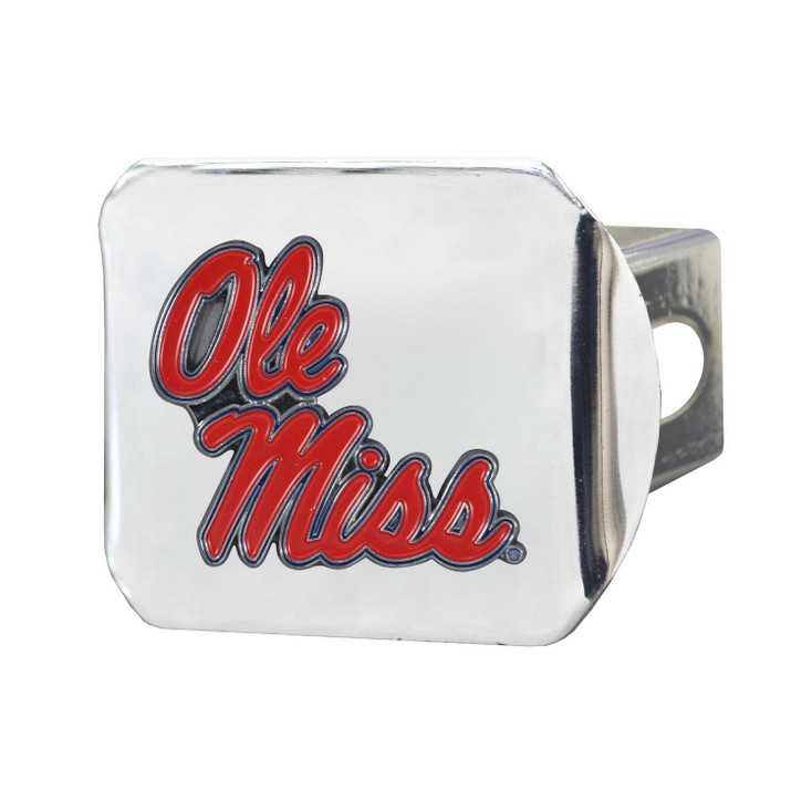 University of Mississippi (Ole Miss) Color Hitch Cover - Chrome