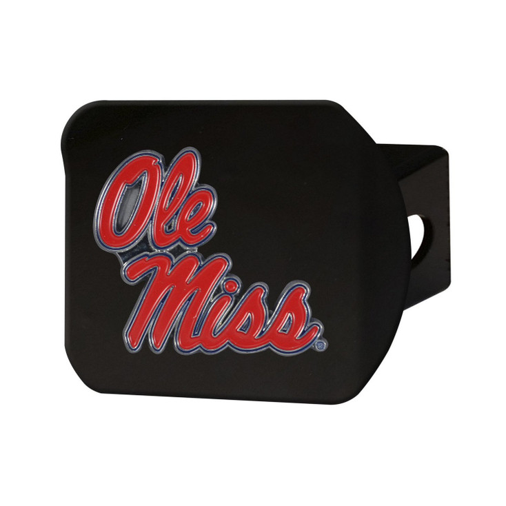 University of Mississippi (Ole Miss) Hitch Cover - Color on Black