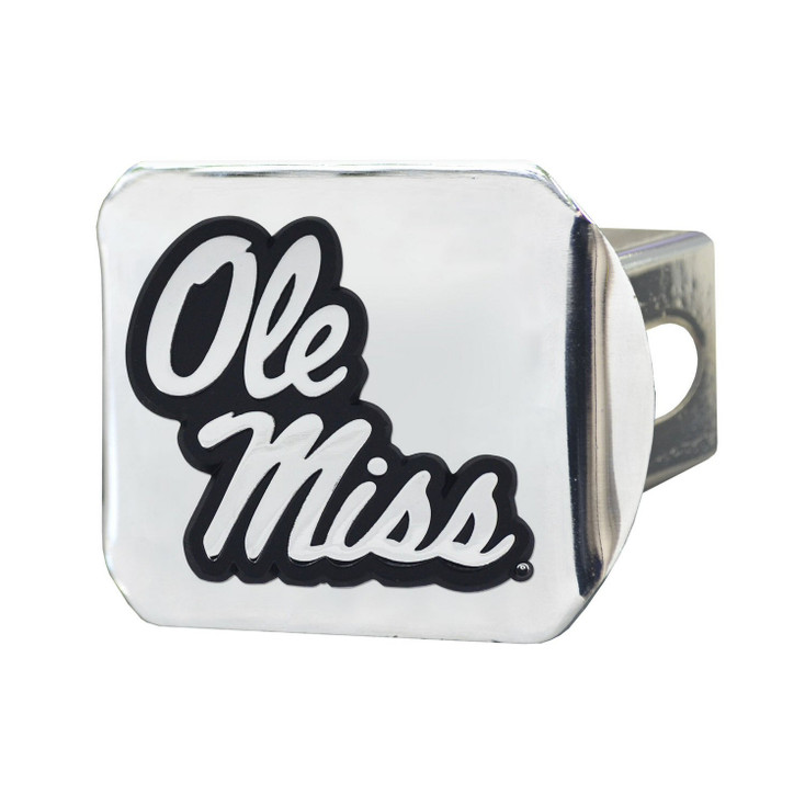 University of Mississippi (Ole Miss) Hitch Cover - Chrome on Chrome