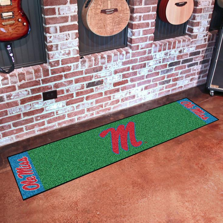 "18"" x 72"" University of Mississippi (Ole Miss) Putting Green Runner Mat"