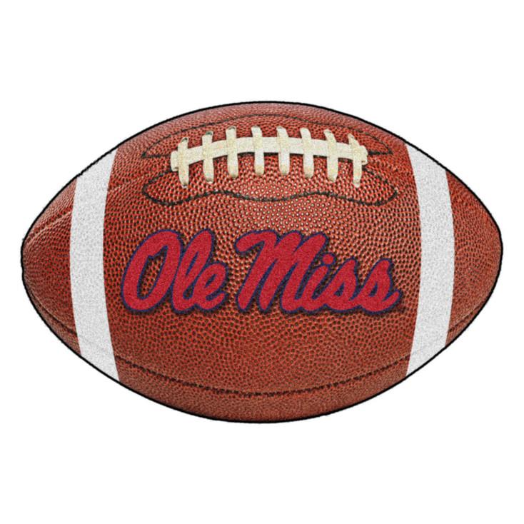 "20.5"" x 32.5"" University of Mississippi (Ole Miss) Football Shape Mat"