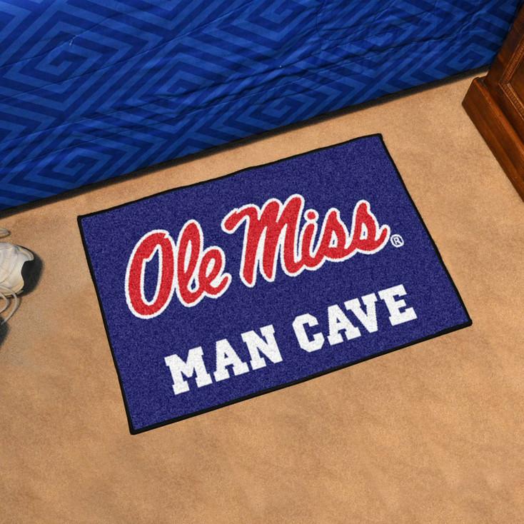 "19"" x 30"" University of Mississippi (Ole Miss) Blue Man Cave Starter Rectangle Mat"