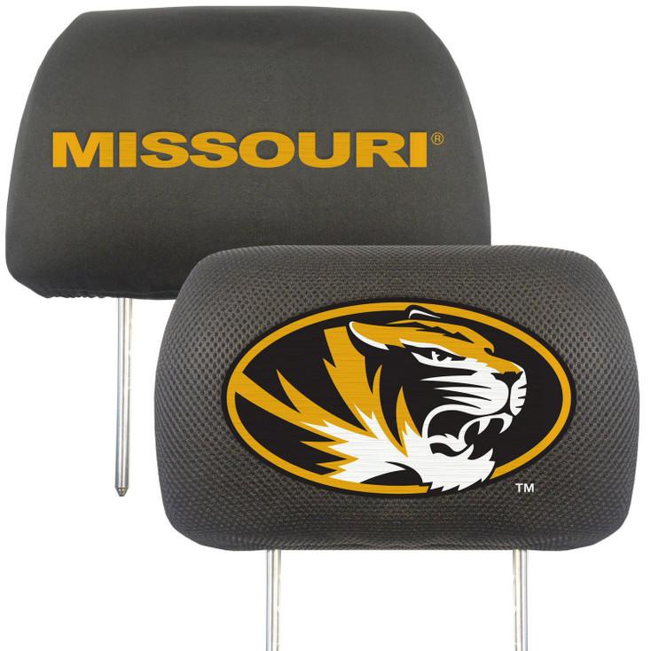 University of Missouri Car Headrest Cover, Set of 2