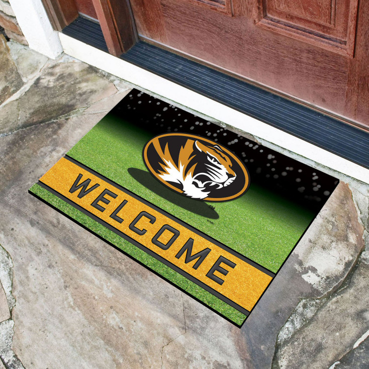 """18"""" x 30"""" University of Missouri Crumb Rubber Door Mat"""