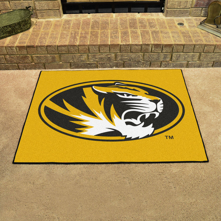 "33.75"" x 42.5"" University of Missouri All Star Yellow Rectangle Mat"