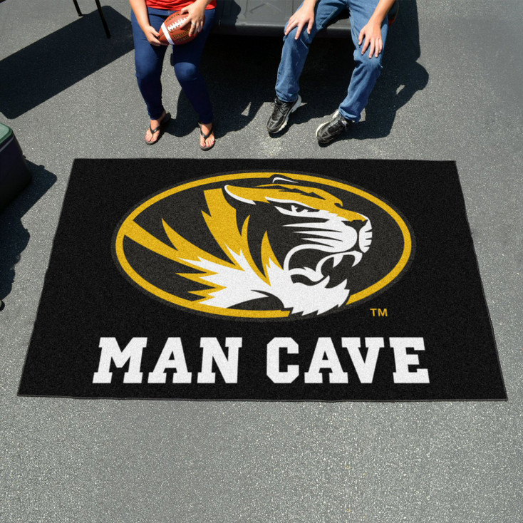 "59.5"" x 94.5"" University of Missouri Man Cave Black Rectangle Ulti Mat"
