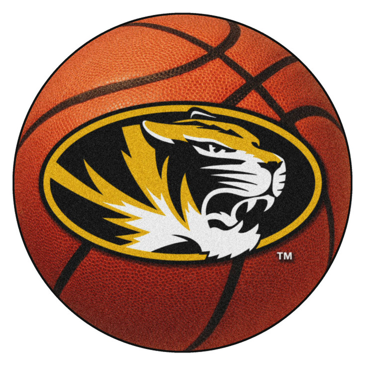 """27"""" University of Missouri Basketball Style Round Mat"""