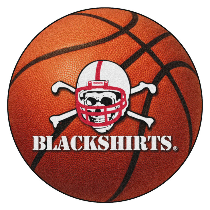 "20.5"" x 32.5"" University of Nebraska Blackshirts Logo Football Shape Mat"
