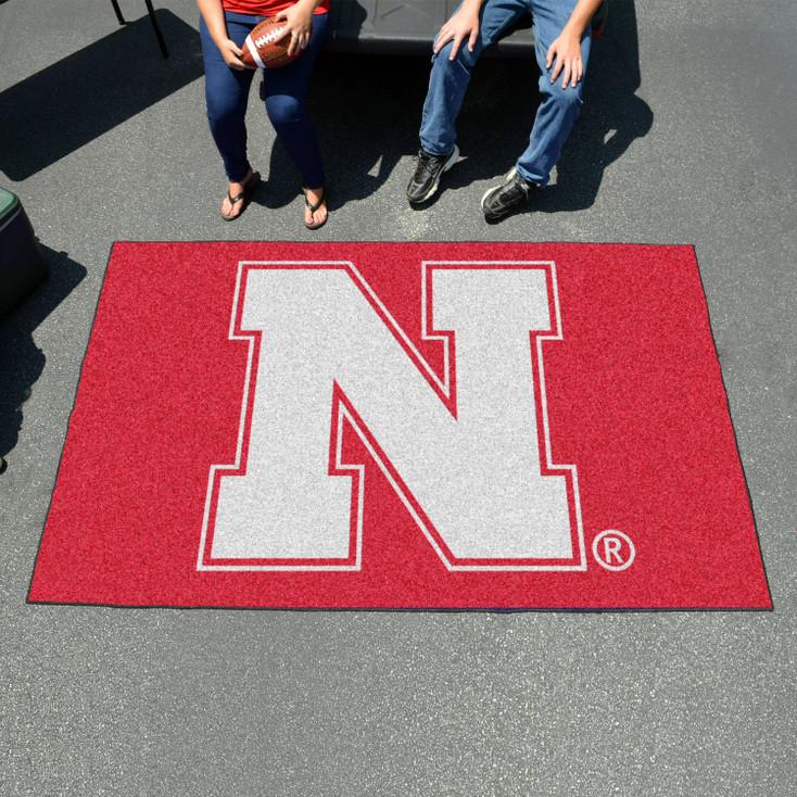"59.5"" x 94.5"" University of Nebraska Red Rectangle Ulti Mat"