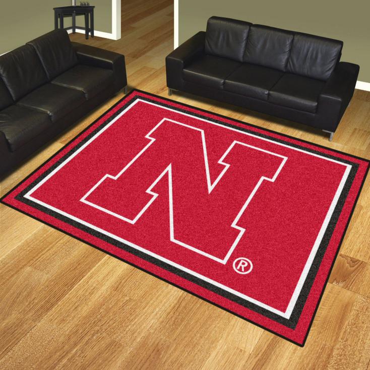 8' x 10' University of Nebraska Red Rectangle Rug