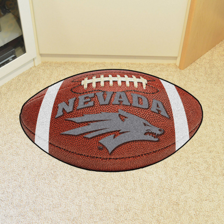 "20.5"" x 32.5"" University of Nevada Football Shape Mat"