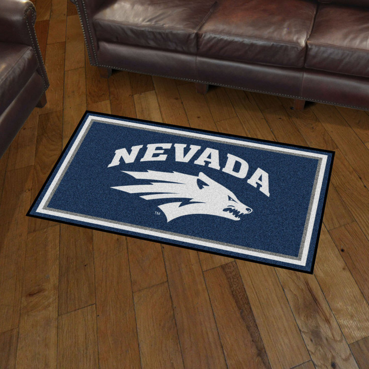 3' x 5' University of Nevada Navy Blue Rectangle Rug