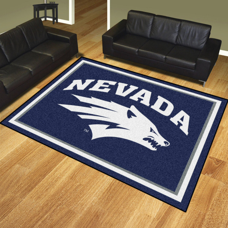 8' x 10' University of Nevada Navy Blue Rectangle Rug