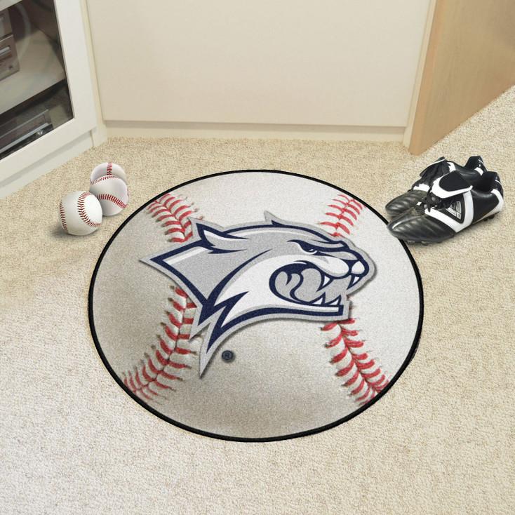 "27"" University of New Hampshire Baseball Style Round Mat"