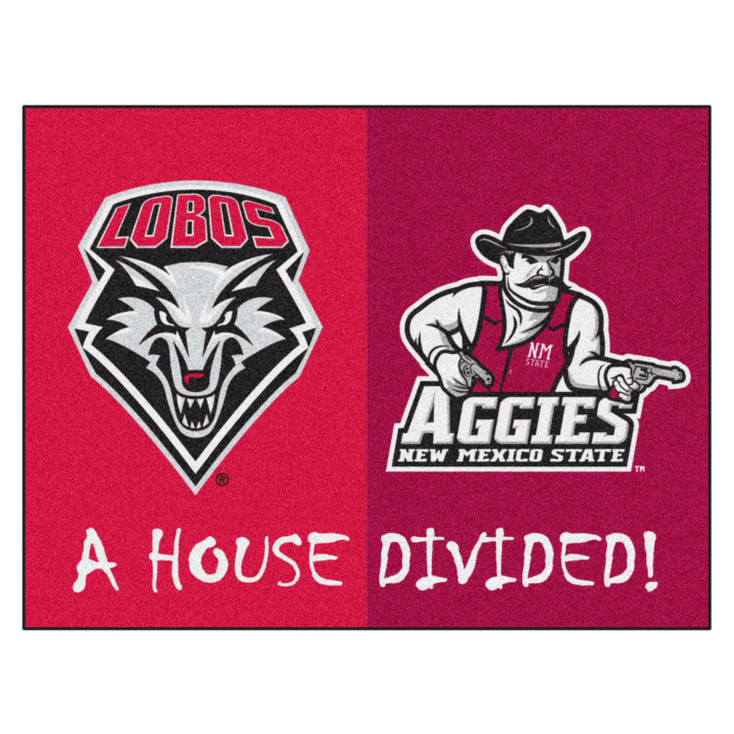 "33.75"" x 42.5"" New Mexico / New Mexico State House Divided Rectangle Mat"