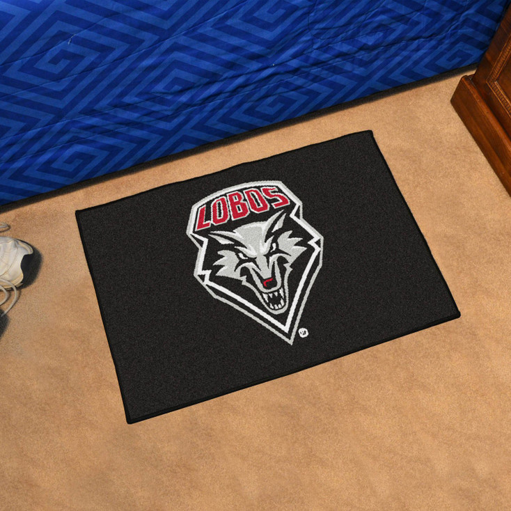 "19"" x 30"" University of New Mexico Black Rectangle Starter Mat"