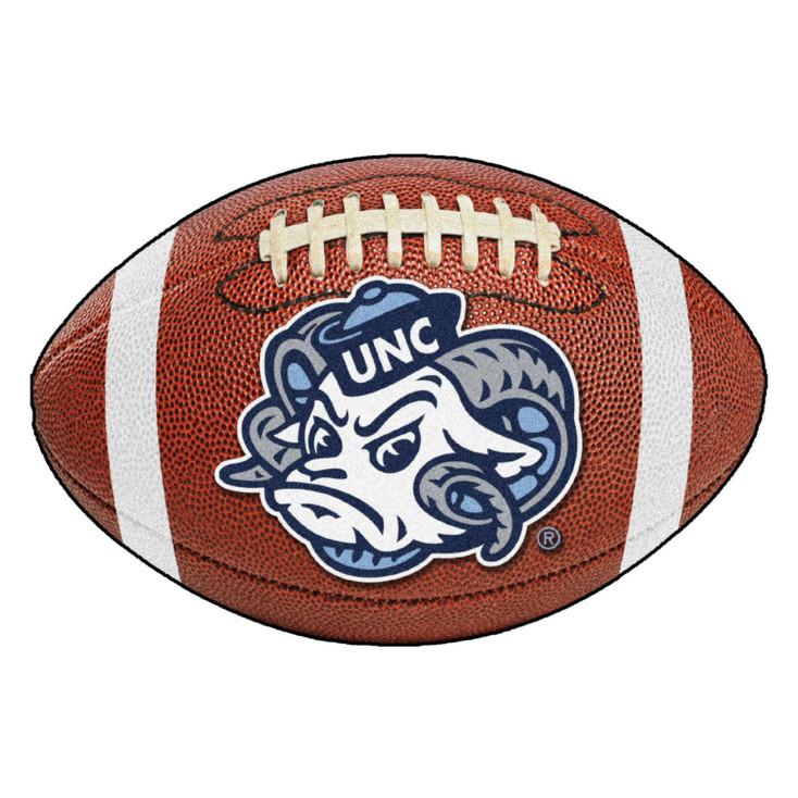 "20.5"" x 32.5"" University of North Carolina Ram Logo Football Shape Mat"