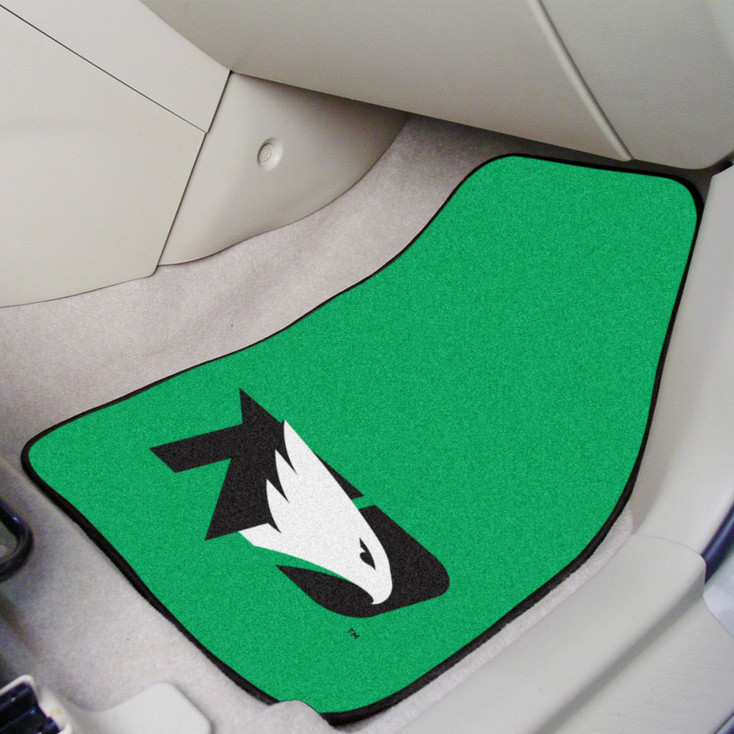 University of North Dakota Green Carpet Car Mat, Set of 2
