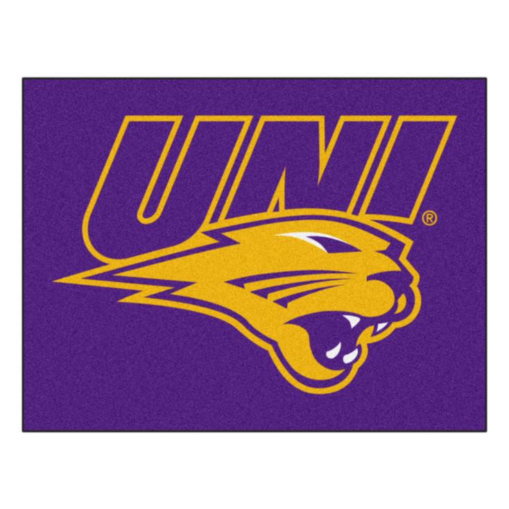 "33.75"" x 42.5"" University of Northern Iowa All Star Purple Rectangle Mat"