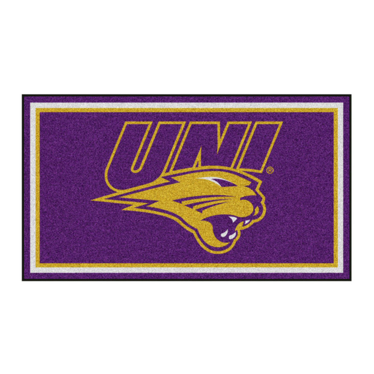 3' x 5' University of Northern Iowa Purple Rectangle Rug