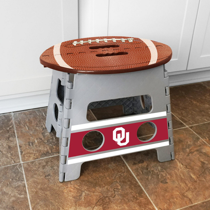 University of Oklahoma Folding Step Stool