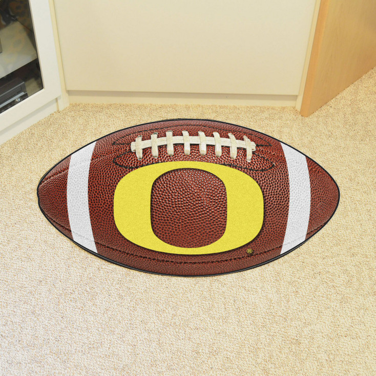 "20.5"" x 32.5"" University of Oregon Football Shape Mat"