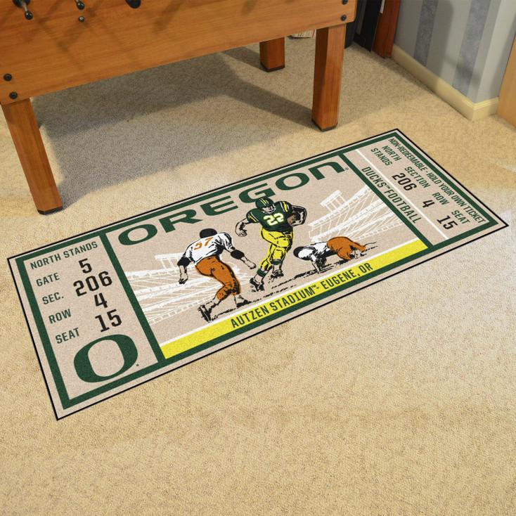 "30"" x 72"" University of Oregon Ticket Rectangle Runner Mat"