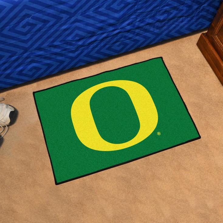 "19"" x 30"" University of Oregon Green Rectangle Starter Mat"