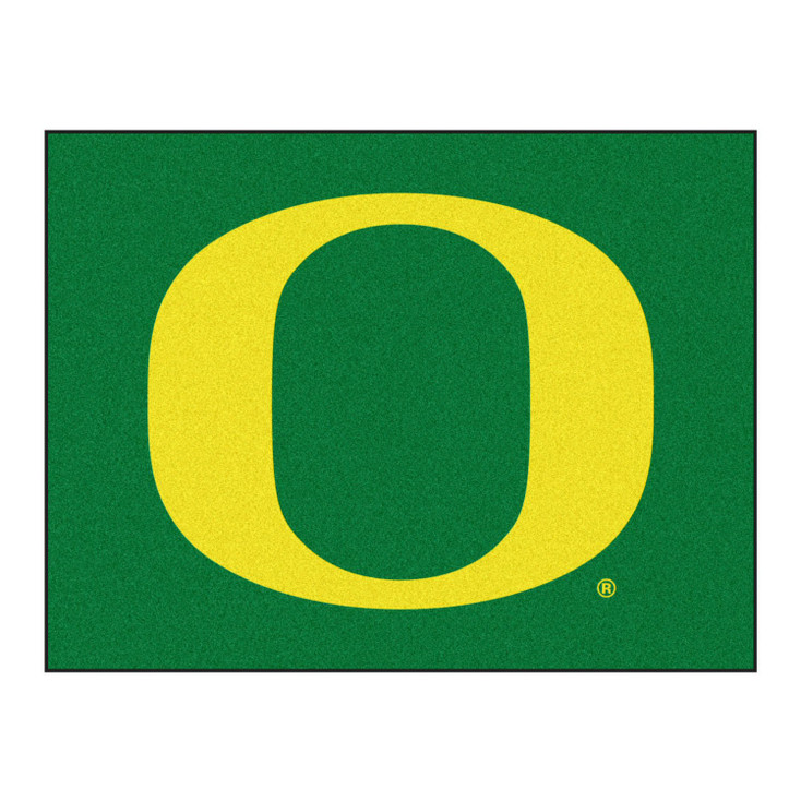 "33.75"" x 42.5"" University of Oregon All Star Green Rectangle Mat"