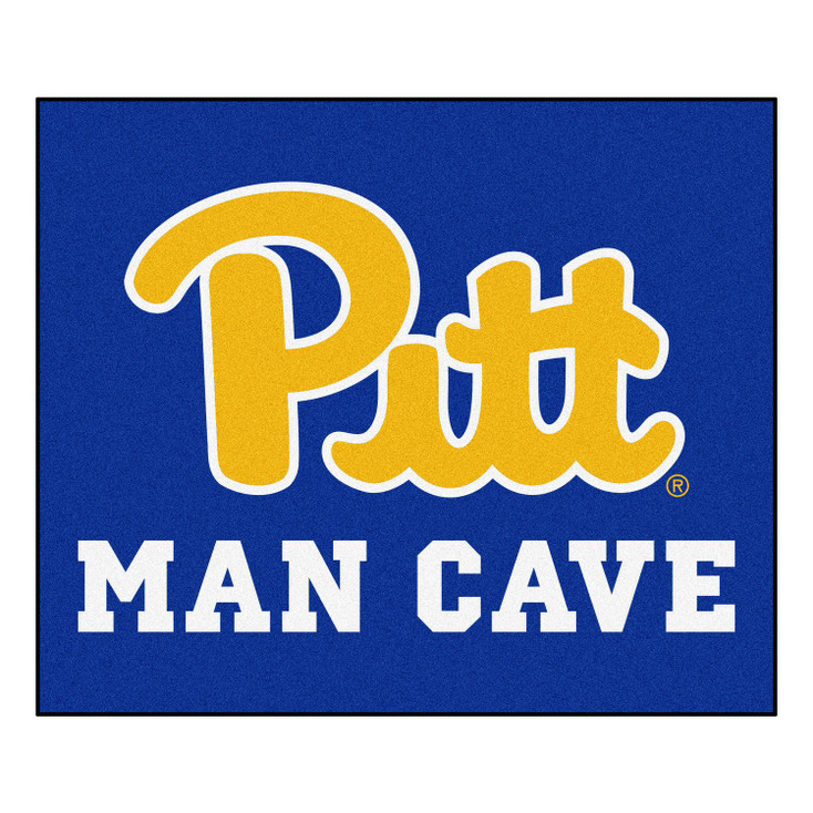 """59.5"""" x 71"""" University of Pittsburgh Man Cave Tailgater Navy Blue Rectangle Mat"""