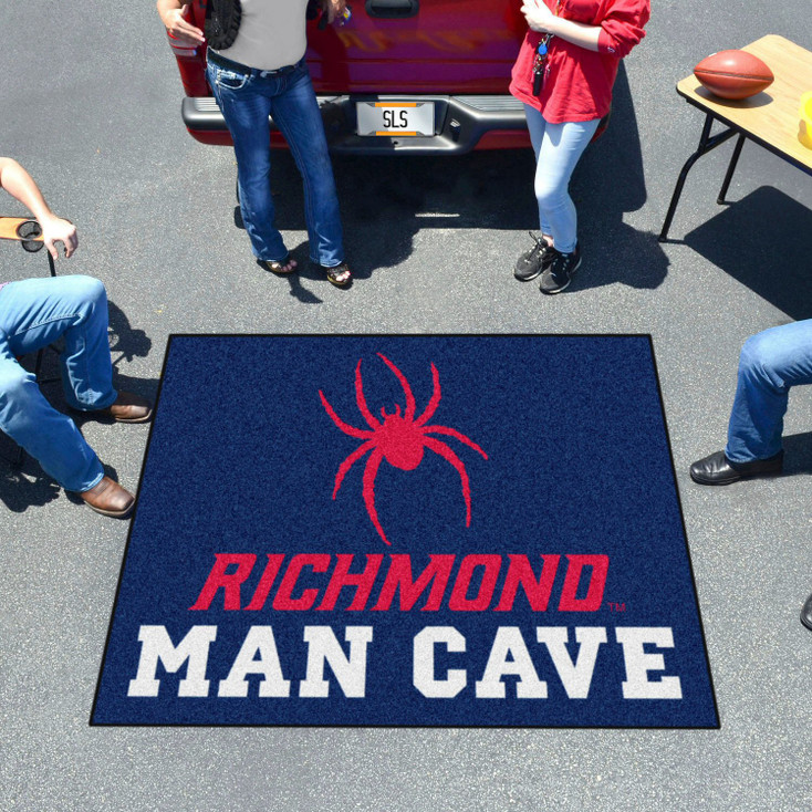 "59.5"" x 71"" University of Richmond Man Cave Tailgater Navy Blue Rectangle Mat"