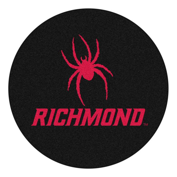 """27"""" University of Richmond Puck Round Mat - """"Spider & Richmond"""" Logo"""