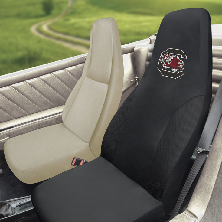 "University of South Carolina Car Seat Cover - ""Block C & Gamecock"" Logo"