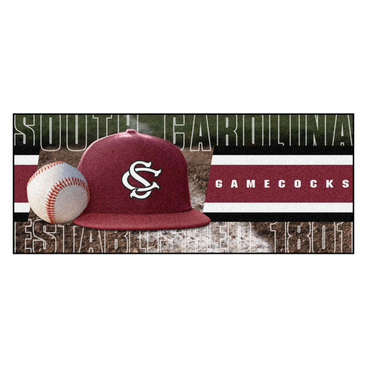"30"" x 72"" South Carolina Baseball Style Rectangle Runner Mat"