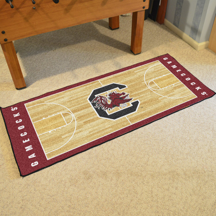 "30"" x 72"" University of South Carolina NCAA Basketball Rectangle Runner Mat"