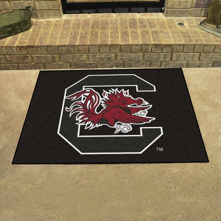 "33.75"" x 42.5"" University of South Carolina All Star Black Rectangle Mat"