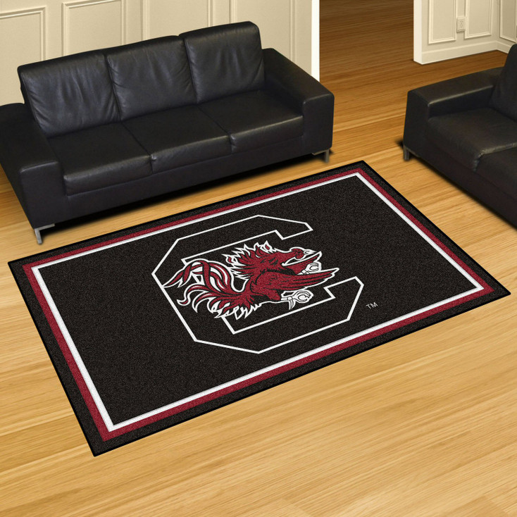 5' x 8' University of South Carolina Black Rectangle Rug