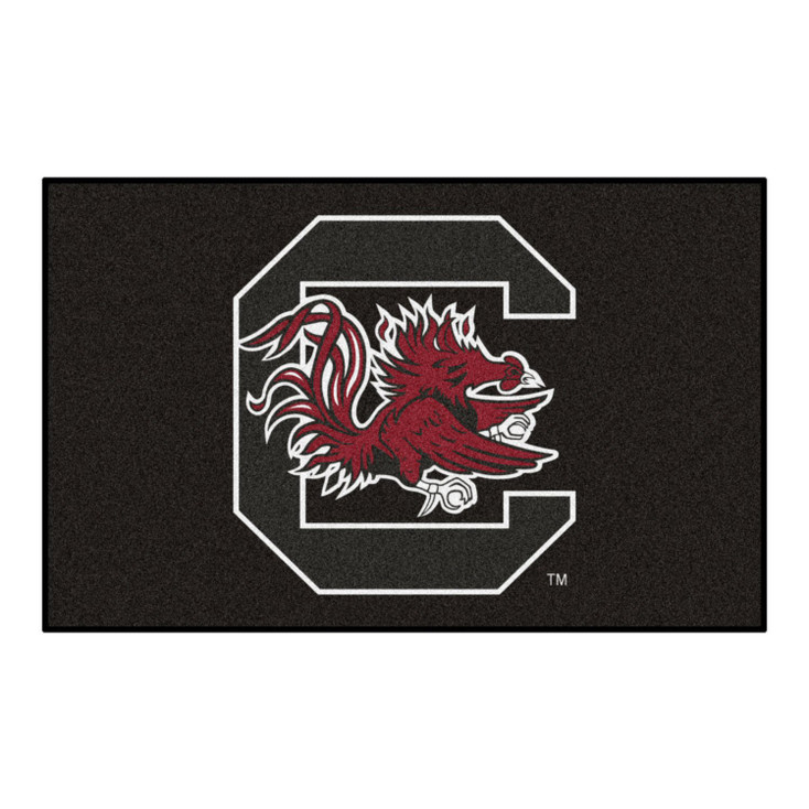 "59.5"" x 94.5"" University of South Carolina Black Rectangle Ulti Mat"