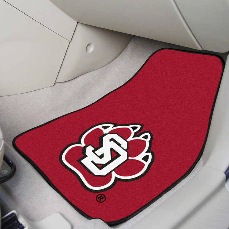 University of South Dakota Red Carpet Car Mat, Set of 2