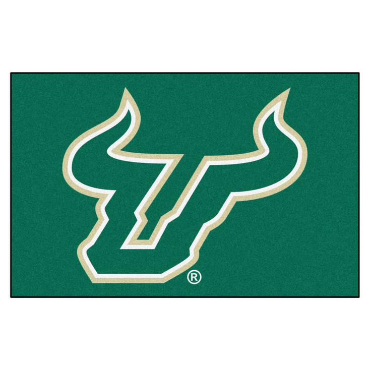 "19"" x 30"" University of South Florida Green Rectangle Starter Mat"