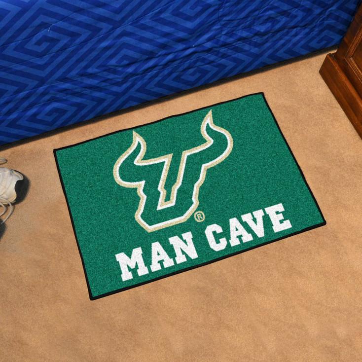 """19"""" x 30"""" University of South Florida Man Cave Starter Green Rectangle Mat"""
